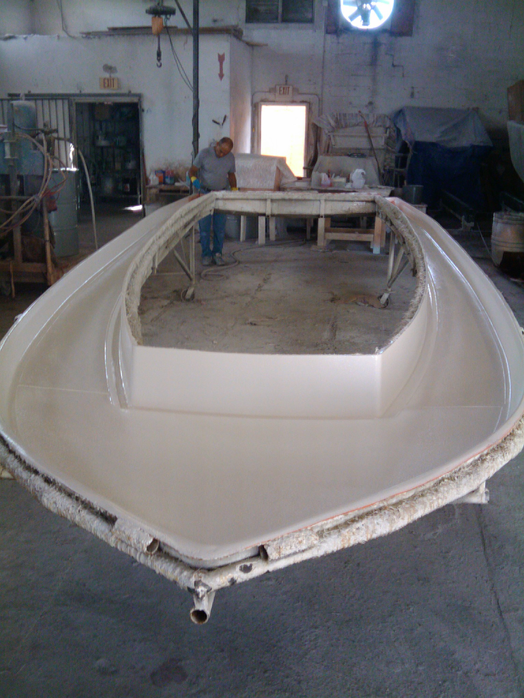 Here is the cap ready to be placed onto the boat.