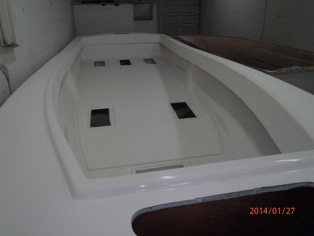 Here the cap has been installed to finish off the 3rd piece of the hull.