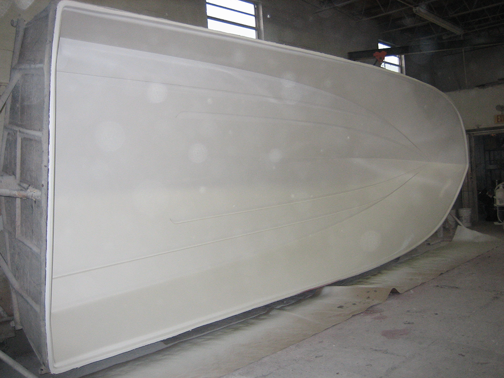 This is the hull after being painted.