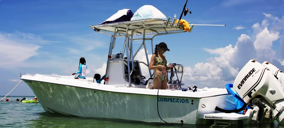 Best center console fishing boats competition boats for Best boat for fishing and family fun